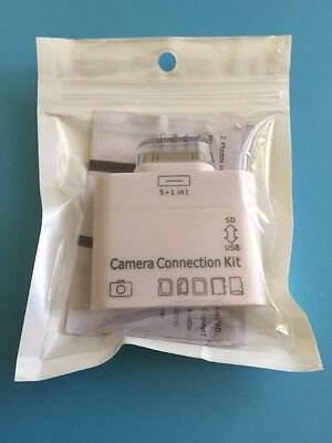 Lightning 8pin Camera Connection Kit for iPad 23 card reader USB SD MS M2 Card