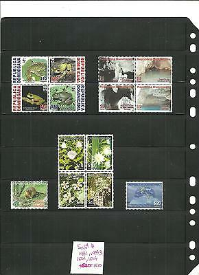 Stamps lot,Dominican Republic,2010,flowers,frogs,cavern,minerals,wild animal,mnh