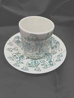 Nymolle Art Faience Hoyrup  Cup & dish  Limited Edition #4006, Made in Denmark