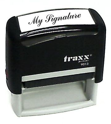 Traxx 9013 Custom SIGNATURE Self-Inking Rubber Stamp