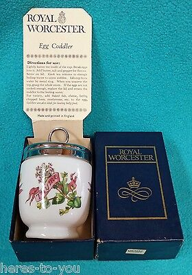 Boxed Royal Worcester COUNTRY KITCHEN King/Double Coddler~Thyme & Nasturtium