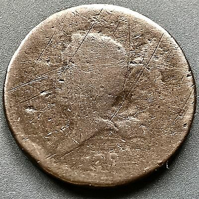 1793 Half Cent Liberty Cap Flowing Hair Wreath 1/2 Cent RARE First Year #4123