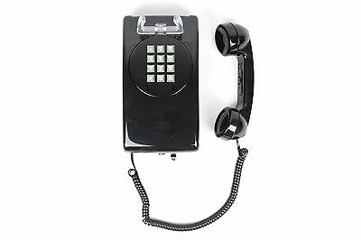 New Never used Vintage Touch Tone Wall Telephone - ITT/CORTELCO - Black