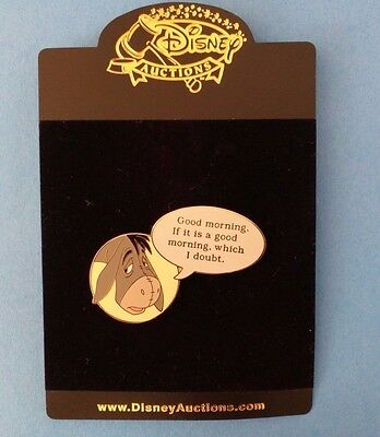 Eeyore LE 100 Disney Auctions Film Quote Pin rare HTF  Pooh and Friends