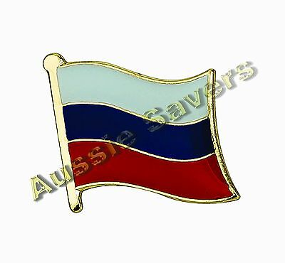 Russia Flag Hat Pin / Badge - Brand New