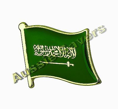 Saudi Arabia Flag Hat Pin / Badge - Brand New