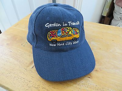 New York City Taxi Cap Hat Garden In Transit Leather Adjustable Strap