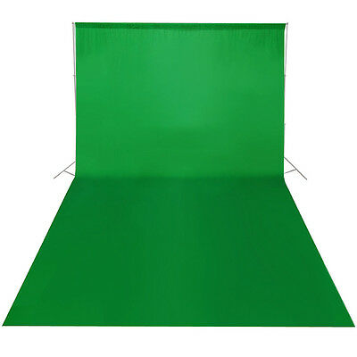 10x12ft Cotton Chromakey Green Screen Muslin Backdrop Photography Background AUS