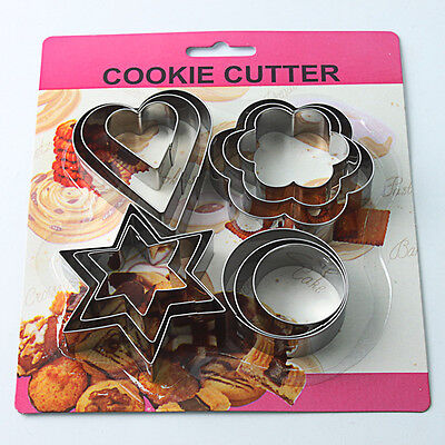 12 Pcs Metal Biscuit Star Cookie Cutter Cake Mould Sugarpaste Decorating Pastry
