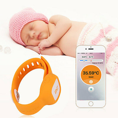 Smart Safe Wireless Bluetooth Wristband Thermometer Baby Temperature Monitor BT