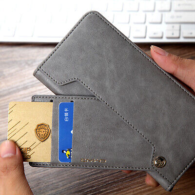 For iPhone XS Max X Luxury Magnetic Leather Wallet Photo Card Holder Case Cover
