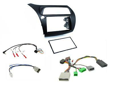 HD01L Honda Civic 06-11 LEFT HAND DRIVE Double Din Stereo Fitting Kit