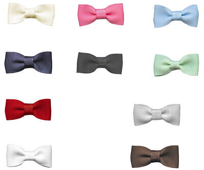 "NEW 32mm 1.2"" Pre Tied Bow Ties 16mm Grosgrain Ribbon Eco Quality Craft Party"