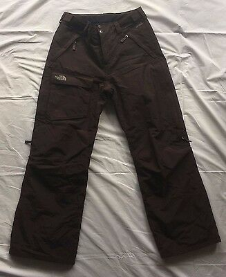 Women's SIZE M Brown Northface Ski Pants