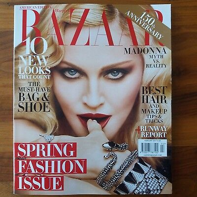 """Sent From Berlin! """"harper's Bazaar"""" American Edition February 2017 Madonna Cover"""