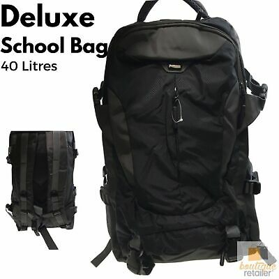 Heavy Duty SCHOOL BAG Tough Waterproof Backpack Travelling Laptop Support 614