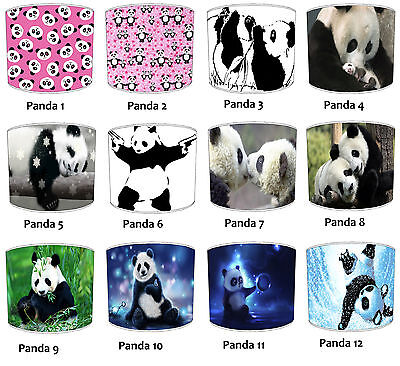 Panda Lampshades Ideal To Match Panda Duvets Covers & Panda Quilts & Bedspreads.