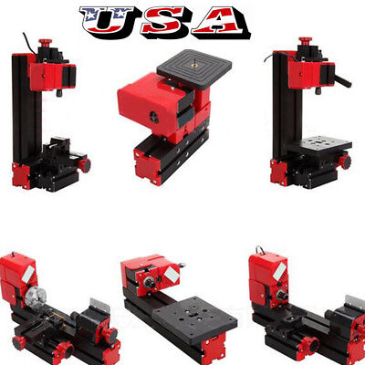 US 6in1 Machine Wood Metal DIY Tool Jigsaw Milling Lathe Drilling Multi-function