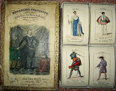 ♥ ♥ JEU DE CARTES DES ROIS DE FRANCE 1820 Tempier Paris Playing Cards rare  ♥ ♥
