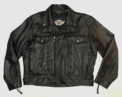 Harley Davidson Leather Nevada Jacket Rem Liner Well Vented Xl 98122-98Vm     42