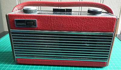 Roberts Rambler Vintage Portable Transistor Radio - First Model / In Red - VGC!
