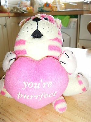"""Bagpuss With Purrfect  Loveheart Plush Toy 6 """" Cuddly"""