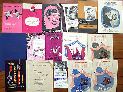 1950s 1948 vintage sydney newcastle theatre Musical programmes lot old adverts