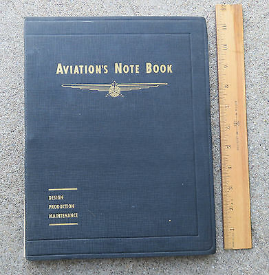 Original  WW2 1941 Aviation's Notebook Design Production Maintenance Book