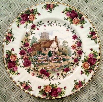 Royal Albert Old Country Roses Cottage piatto in porcellana inglese cm.26