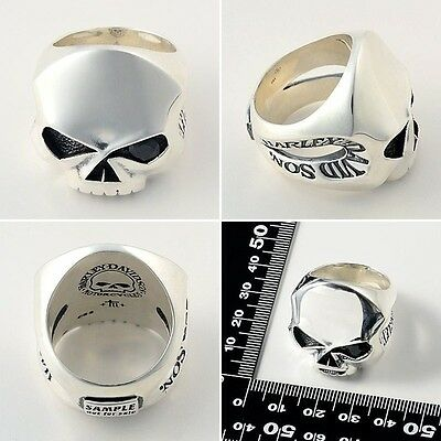 Harley-Davidsonby Thierry Martino / men's silver and Onyx Ring Size 11