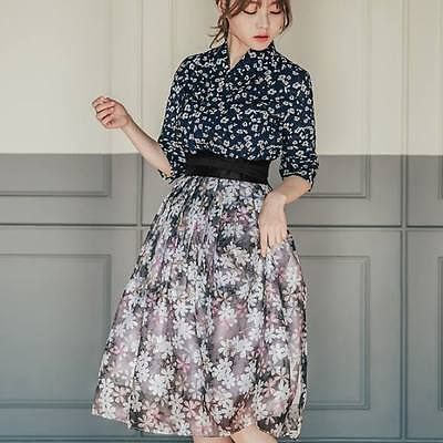 Hanbok Traditional Korean Dress (two-piece) TOP jeogori , Skirt / Evening Party