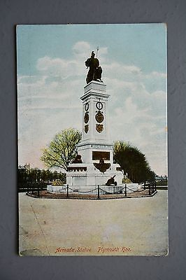 R&L Postcard: Armada Statue Plymouth Hoe, Stamp Removed