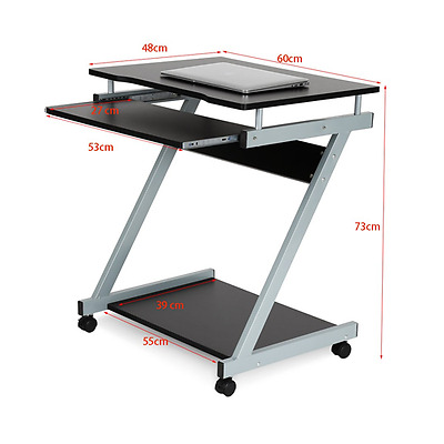 PC Computer Desk Wheels Home Office Workstation Small Space Saving Unit New