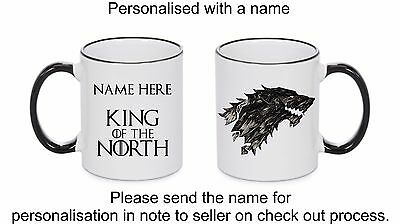 King of The North Game Of Thrones mug, personalised mug, Gifts Ideas, Bday gifts