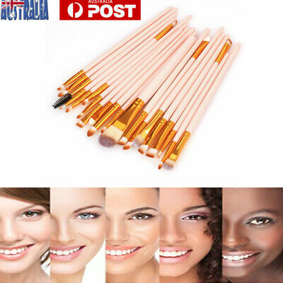 20pcs Makeup Brush Set Kit Eyebrow Eyeshadow Foundation Powder Contour Lip AU