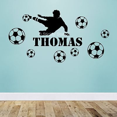 Football Boys Personalised Any Name Wall Art Mural Decal Sticker