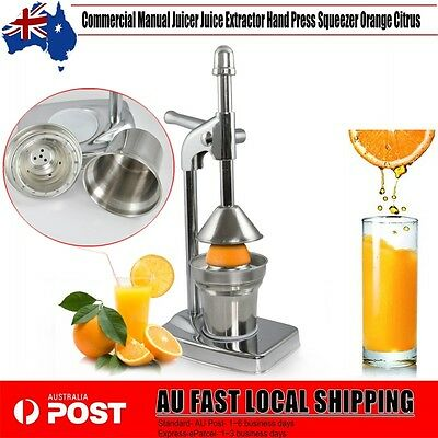 Commercial Manual Juicer Juice Extractor Hand Press Squeezer Orange Citrus BBY