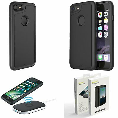 Qi Cargador Inalámbrico Receptor Funda Carcasa Case Cover para iPhone 7 7 Plus