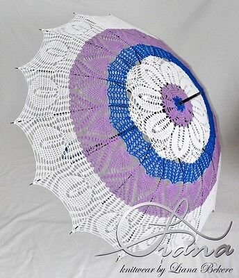 Umbrella Crochet Unique Photo Session Decor Style Moder Design Knitting Parasol