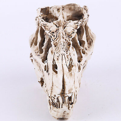 White Resin T-rex Skull Replica Skeleton Figurine Collection For Bar Decor