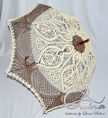Umbrella Handmade Crochet Decor Yarn Style Moder Design Knitting  Parasol New