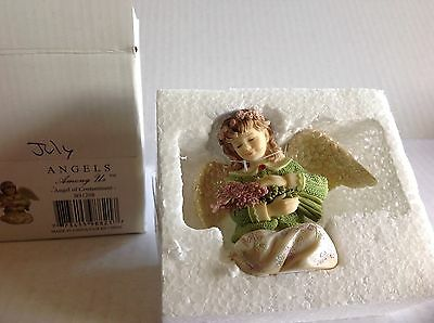 """Betty Singer ANGELS AMONG US """"Angel of Contentment"""" July Figurine NIB BS1208"""