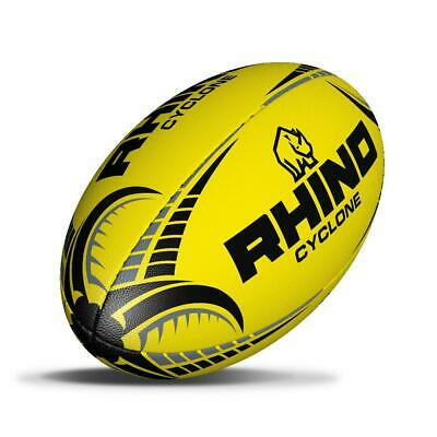Rhino Official Cyclone Rugby Ball - Fluo Yellow