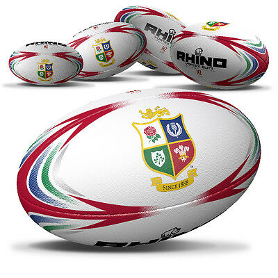 Rhino Official British Lions Replica White Rugby Ball