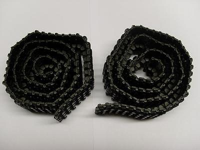 Taigen Tiger I Black Plastic Closed Pin Tracks fit Heng Long 1:16 Scale RC