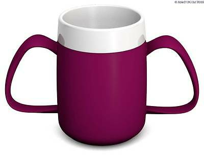 Ornamin Two Handled Mug + internal cone - 200ml - BLACKBERRY/WHITE - PR65134/BB