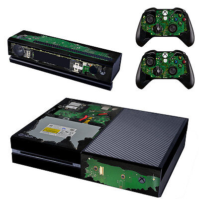 XBox One Console Skin Sticker Protector New Hardware + 2 Controllers