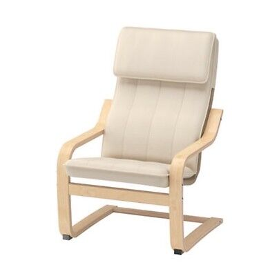 IKEA Poang Children Armchair Lounger Chair Cream Washable Seat