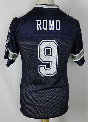 ROMO #9 Vintage Dallas Cowboys American Football Jersey NFL Youths Large Reebok