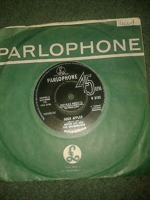 "SOUR APPLES~BYRON LEE AND THE DRAGONAIRES~7"".vinyl.45rpm PARLOPHONE.VG"